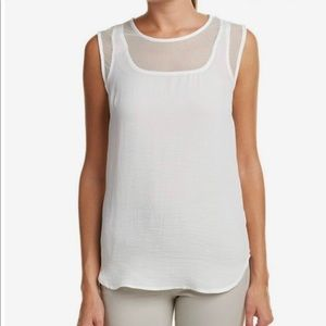 Cabi mesh trim tank, white, size S, gently used